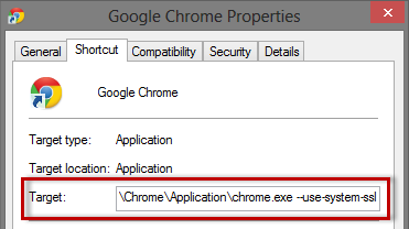 chrome-shortcut-use-system-ssl
